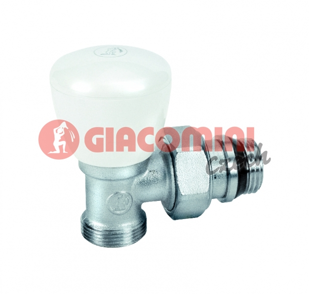 "Radiátorový ventil rohový, pro adaptér R179, R178, gumové těsnění 3/8"" x 16"