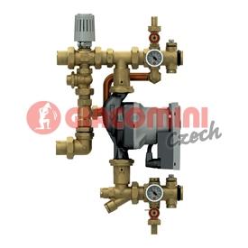 Základní díl pro směšovací rozdělovač R557R-2, s termostatickou regulací na pevnou teplotu