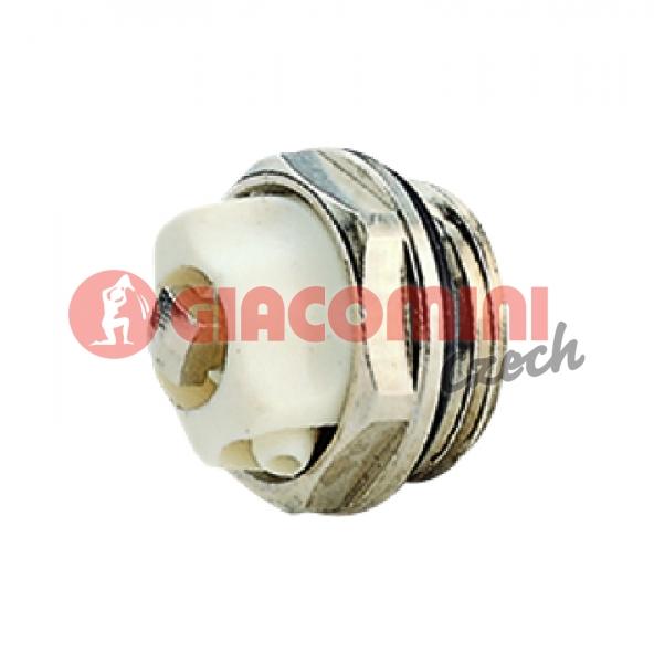 """Odvzdušňovací radiátorový ventil 1/2""""  NIKL"""